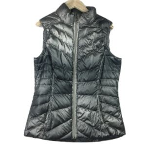 Athleta Metallic Puffer Vest